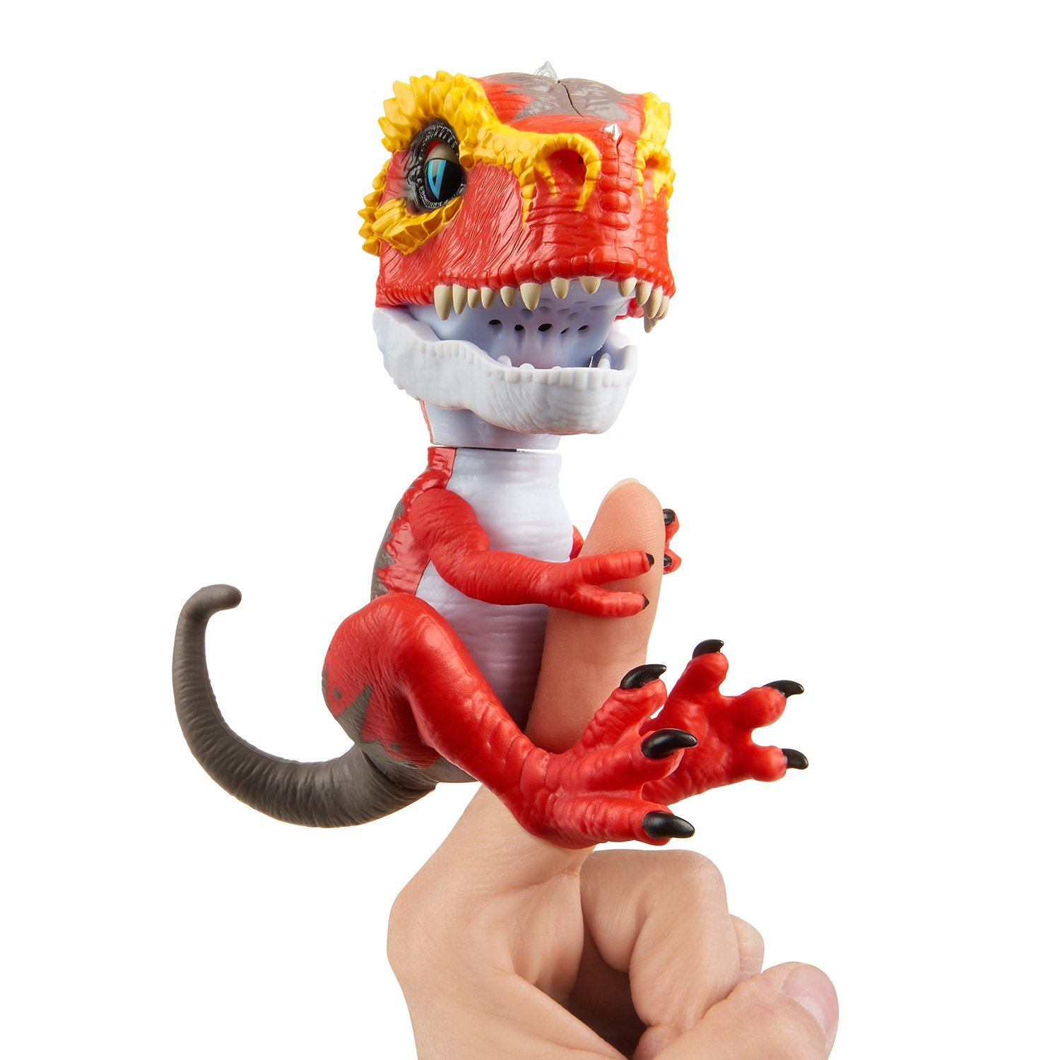 Untamed T-Rex by Fingerlings –Ripsaw (Red) - Interactive Collectible Dinosaur - By WowWee
