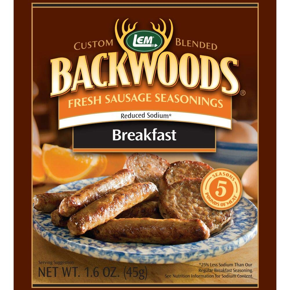 LEM 9163 Backwoods Low Sodium Fresh Breakfast Seasoning (5-Lbs) LEM Products