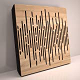 (4 Pack) Sound Absorption-Diffuse Acoustic Panel «Wave» for rec.studio   Wood laminated: (Sonoma)