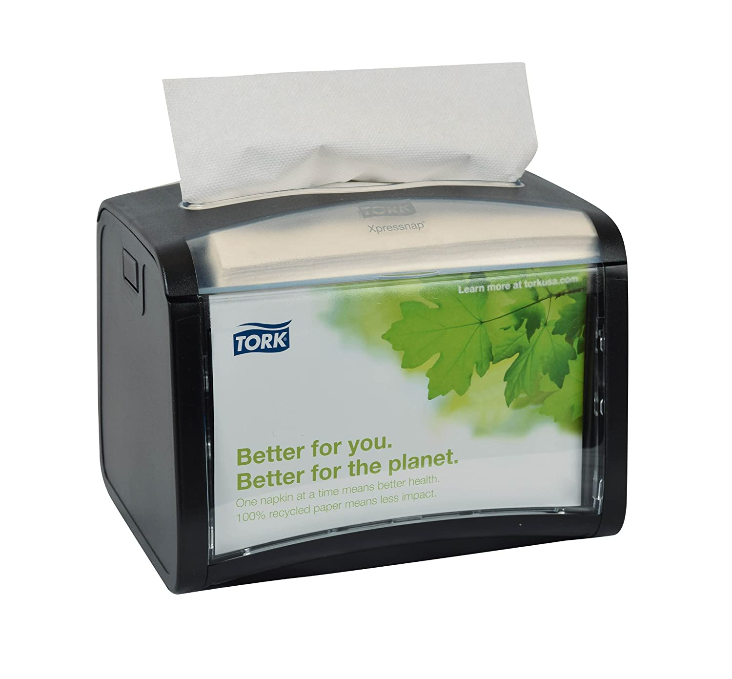 Amazon.com: Tork 6232000 Xpressnap Tabletop Napkin Dispenser, Plastic, Black (Pack of 4): Industrial & Scientific