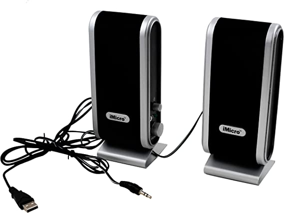 iMicro IMD168B 2.0 Channel Stereo Speakers with USB Power
