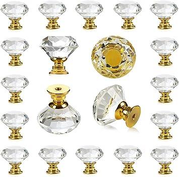 Clear Glass Crystal Knobs Cabinet Knob Dresser knobs cabinet Dresser Knobs  Dresser Pull  Cabinet Knobs  Furniture Knobs