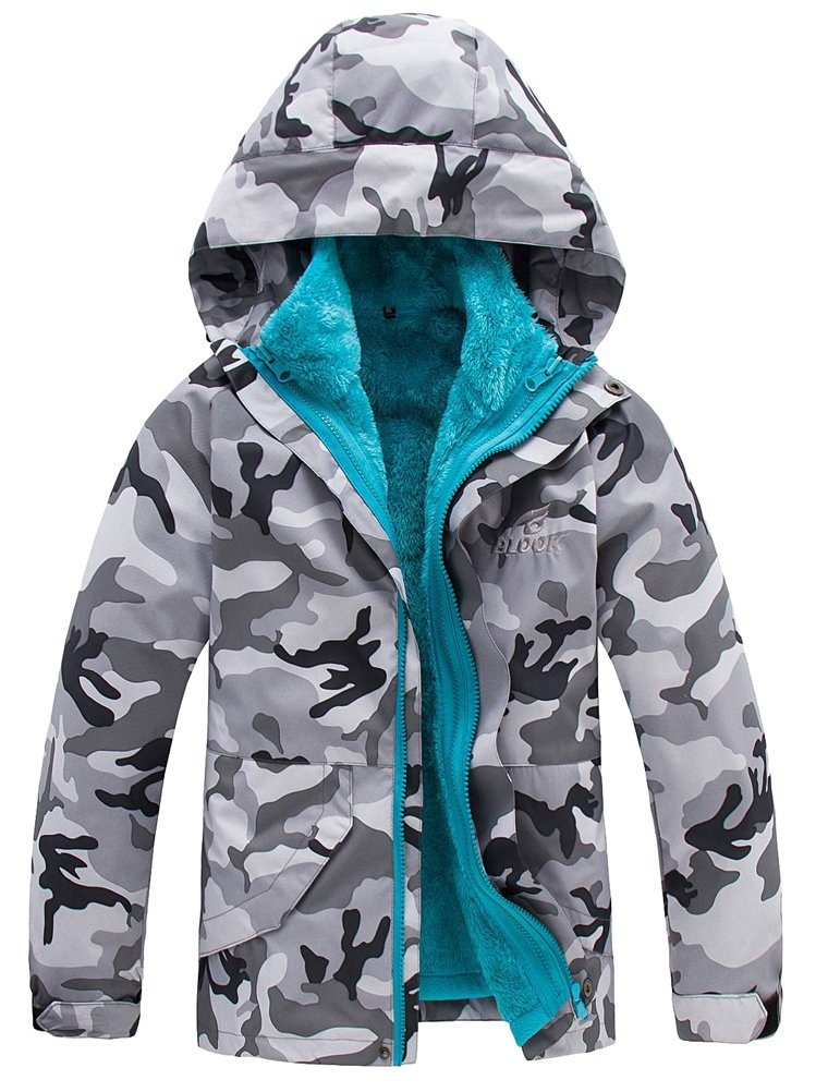 Mallimoda Boys Girls 3-in-1 Jacket with Fleece Liner Winter Outdoor Coat Outwear CA-MaXT016