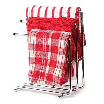 Amazoncom Home X Free Standing Towel Rack Space Saving Kitchen