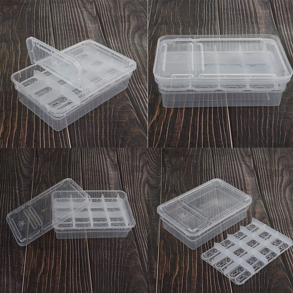 Baoblaze 3pcs Transparente Caja de Incubaci/ón Pollo Huevo Incubadora de 24 Plazas