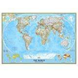 Amazoncom World Map In Spanish Wall Maps Office Products - World map in spanish