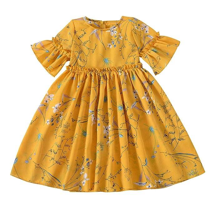 Oliviavan Ropa Bebé Niñas Vestido Verano Niños Pequeños