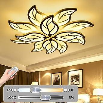LED Deckenleuchte Wohnzimmerlampe Moderne Kunst Designer-Lampe Kreativ  Metall Acryl Blattform Romantisch und warm Decke Leuchte Deckenlampe ...