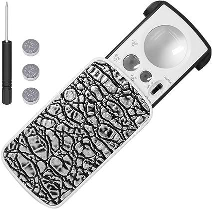 /nero 30/x,60/x,90/x ingrandimento tascabile per francobolli Rocks monete orologi modelli di hobby di antiquariato foto/ LED light Portable Loupe