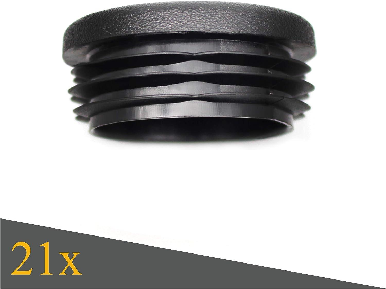 Negro cubiertas de polietileno de alta calidad Tapones de l/áminas redondos de Enkotrade tapones de tubo redondos tapones