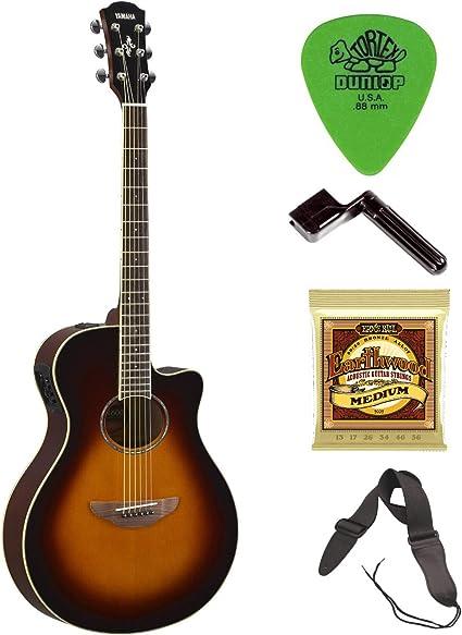 Yamaha APX600OVS Thinline Guitarra acústica eléctrica con cuerdas ...