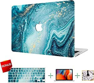 VAESIDA Laptop Case, MacBook Case, Plastic Case Hard Shell Case for MacBook Air 13 inch Model A1932/A2179 (2018-2020 Release) with Keyboard Skin Cover and Screen Protector (Marble 19)