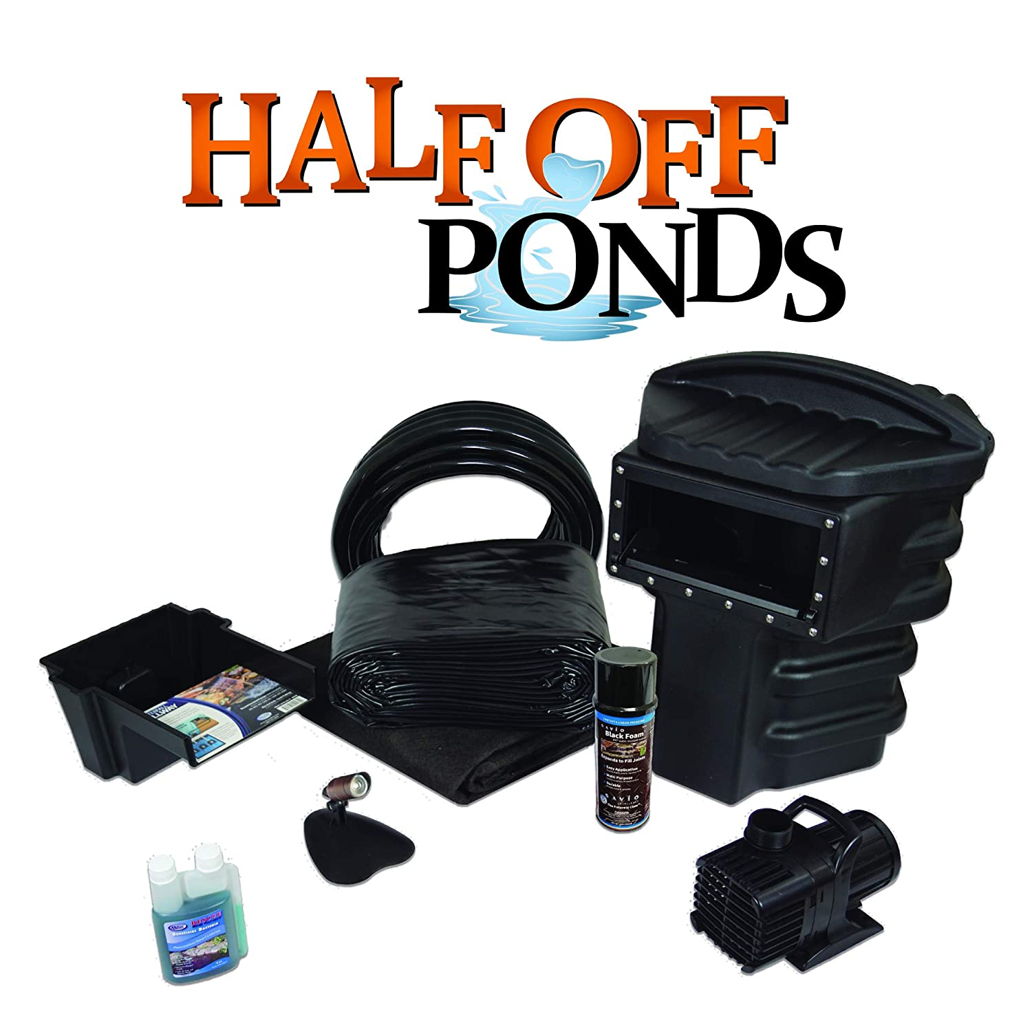 Simply Ponds 1200 Water Garden and Pond Kit with 10 Foot x 10 Foot PVC Liner
