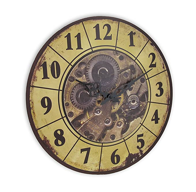 Amazon.com: Things2Die4 Steampunk Gear Art Wall Clock 15 in.: Home & Kitchen