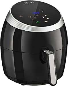 BELLA (14679) 5.3 Quart Air Convection Fryer, Black