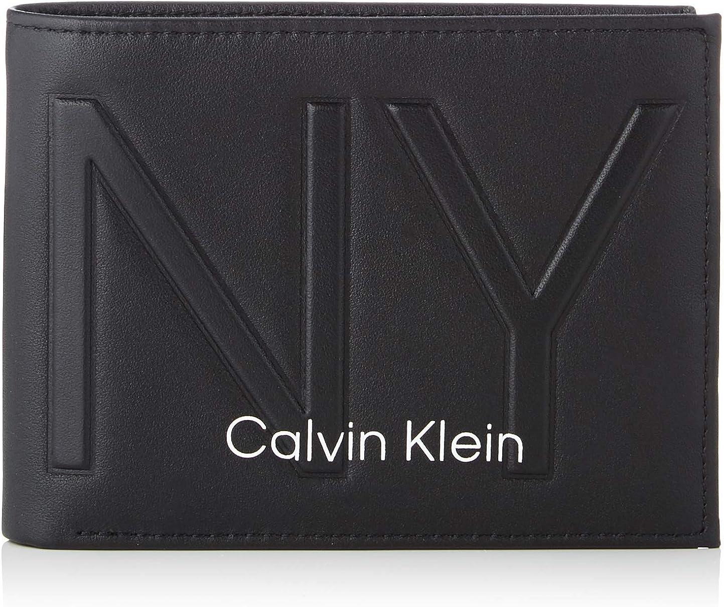 Calvin Klein - Shaped 5cc W/Coin, Carteras Hombre, Negro (Black), 0.1x0.1x0.1 cm (W x H L)