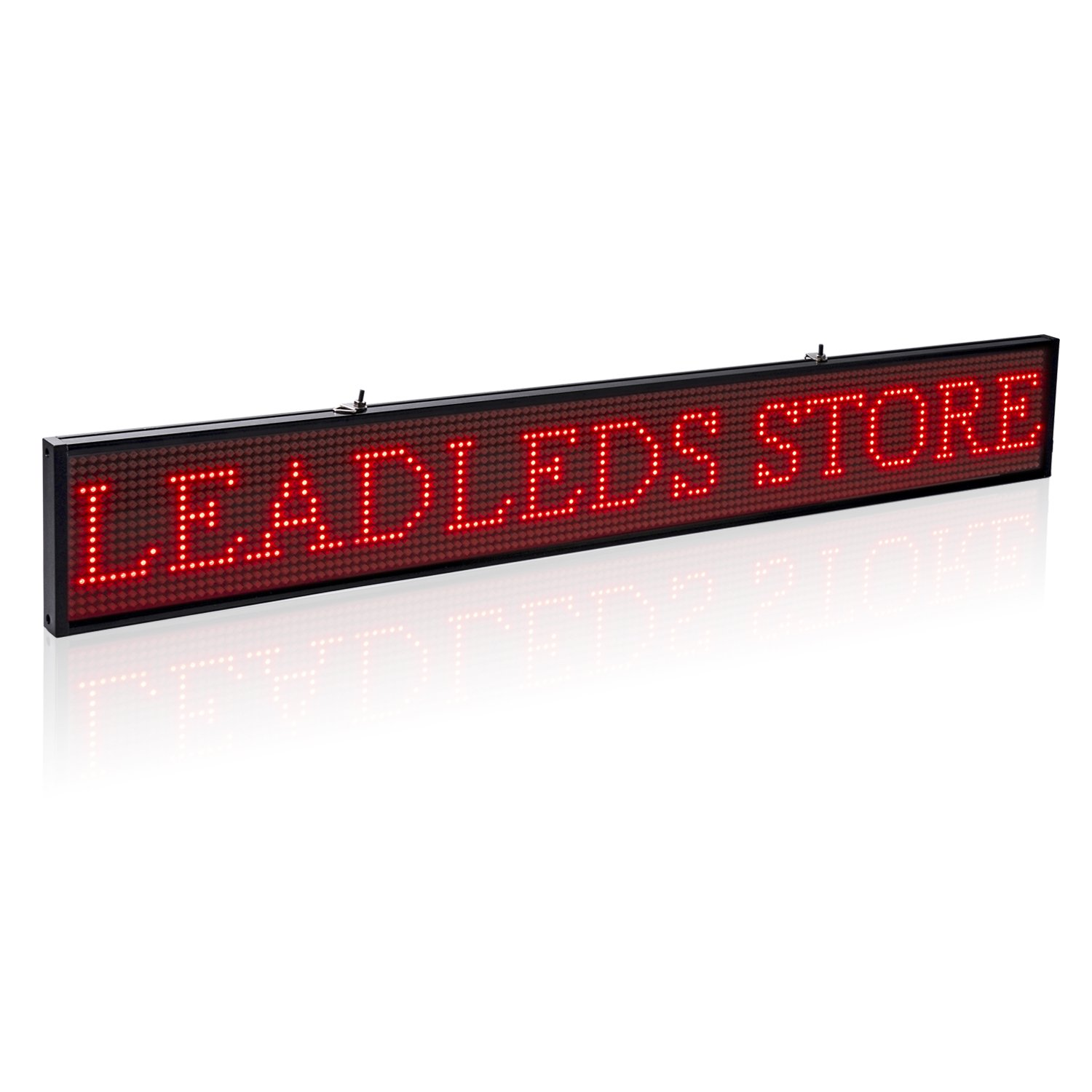 Leadleds Ultra-Thin Design P5mm 16X96 Pixel SMD LED programmierbare Scrolling Nachricht Sign Board, PC Software Change messages (rot)