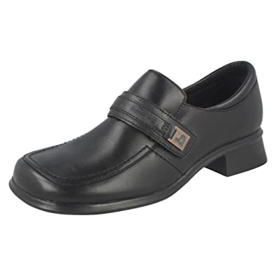 ca7293ffe22 Clarks Girls Bootleg Chunky Heel School Shoes Nominate - Black Leather - UK  Size 2E -