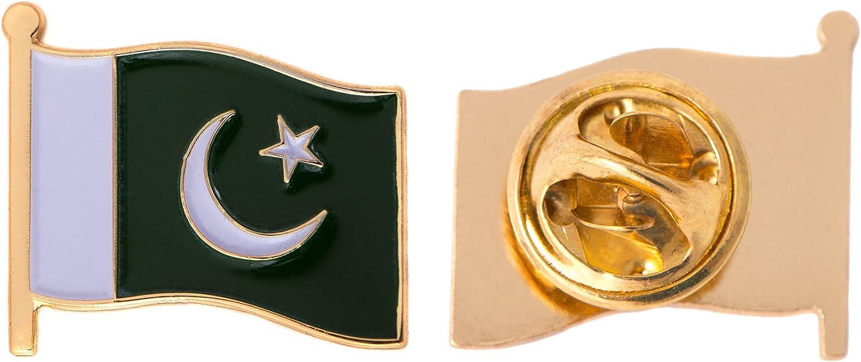Pakistan Flag Badge Enamel Pin Metal Lapel Pakistani
