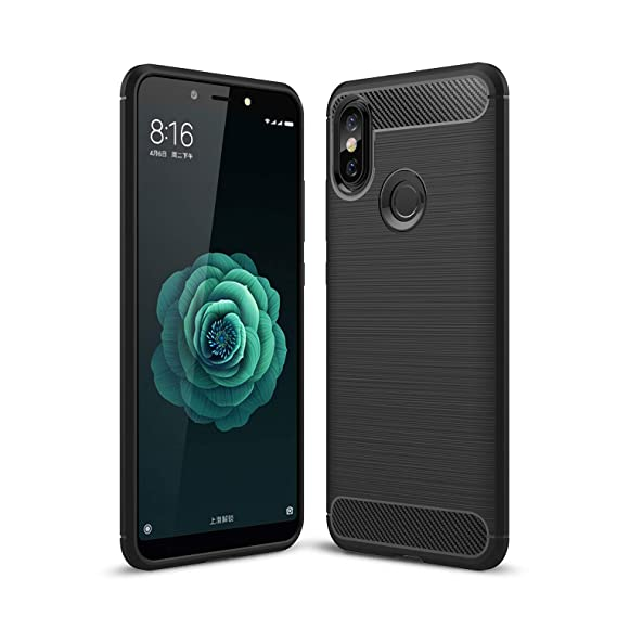 competitive price ce15d ccda9 Xiaomi Mi A2 Case, AVIDET Shock-Absorption Flexible Soft Gel TPU Silicone  Case Cover for Xiaomi Mi A2 Case/Xiaomi 6X Case (Black)