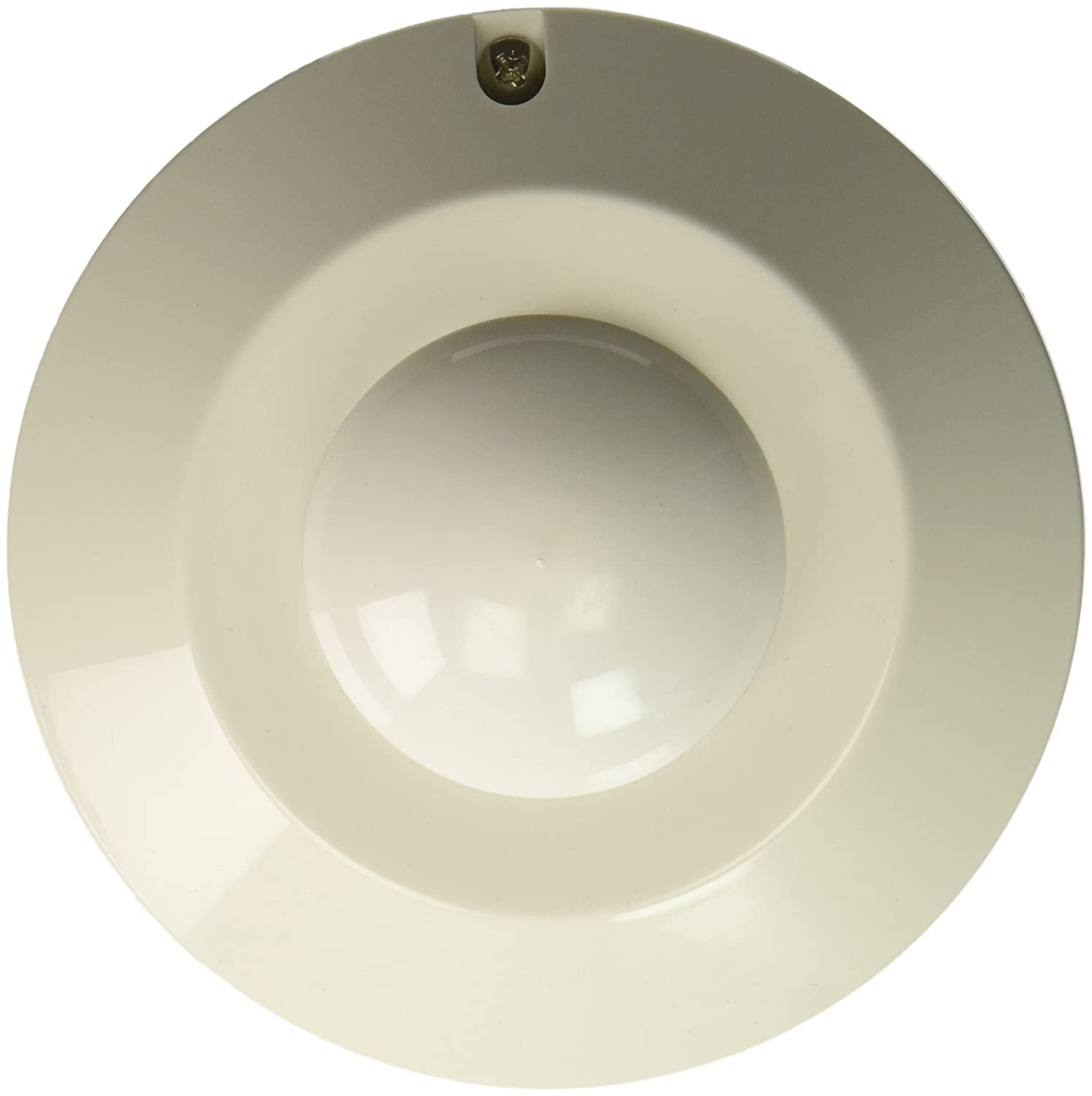 White Peco SA200-001 Ceiling Mounted Occupancy Sensor with 360-Degree Protection Pattern