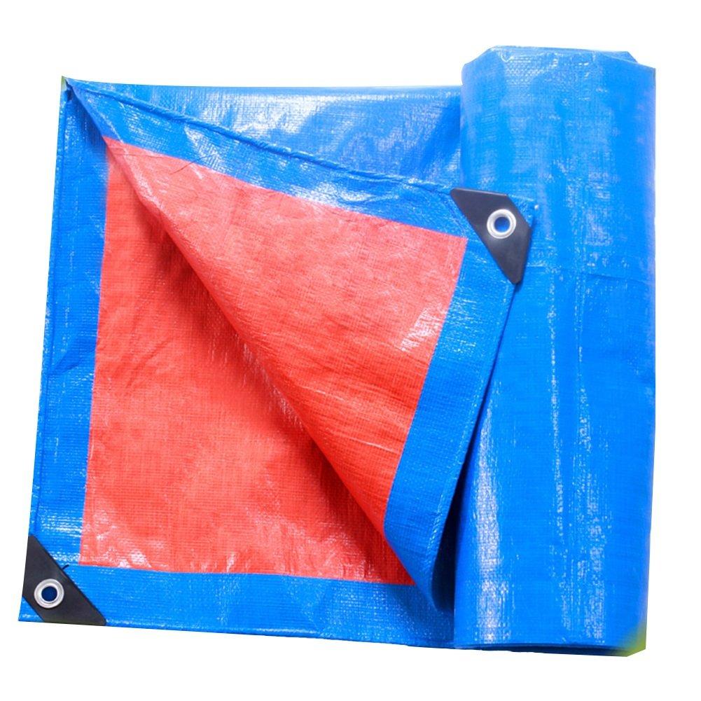 bleu 8 x 10m CAOYU BÂche extérieure imperméable Pique-Nique Mat Double-Face étanche à l'humidité voituregaison Tissu Anti-poussière Haute température Anti-vieillisseHommest