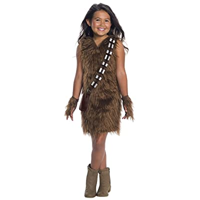 Rubie's Costume Chewbacca Star Wars Classic Girls Child Furry Deluxe Dress: Toys & Games