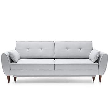 Moebella Designer Sofa Couch 3 Sitzer Mit Schlaffunktion Und