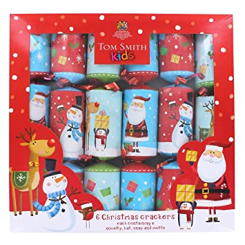 fun kids christmas crackers 6 pack