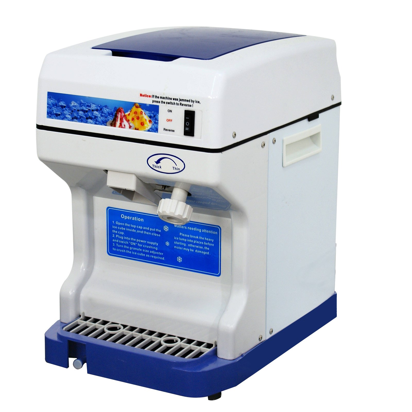 Super Deal Ice Crusher Maker, Commercial Ice Shaver Snow Cone Equipment For Parties Events