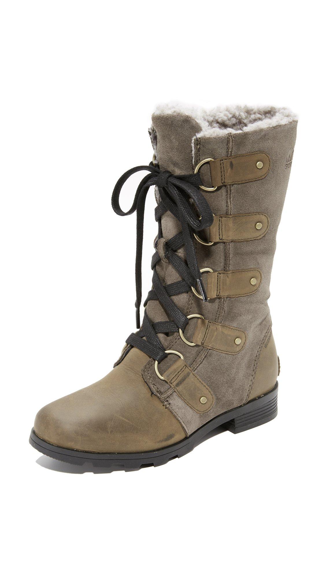 SOREL Women's Emelie Lace Boots, Major/Black, 10 B(M) US