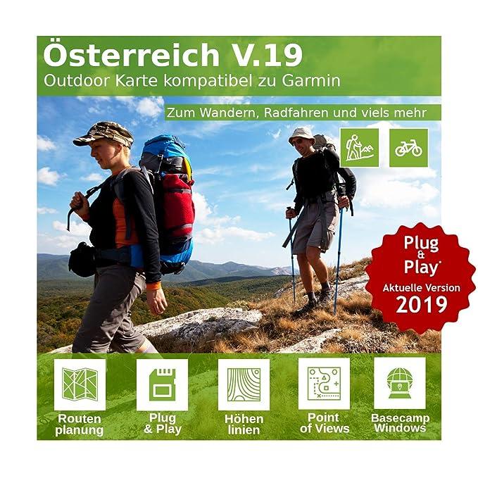 Österreich V.19 - Profi Outdoor Topo Karte - Kompatibel zu Garmin Oregon 200, Oregon 300, Oregon 400, Oregon 400c