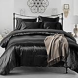 Amazon.com: Pure Enjoyment Black Luxury Bedding Silk
