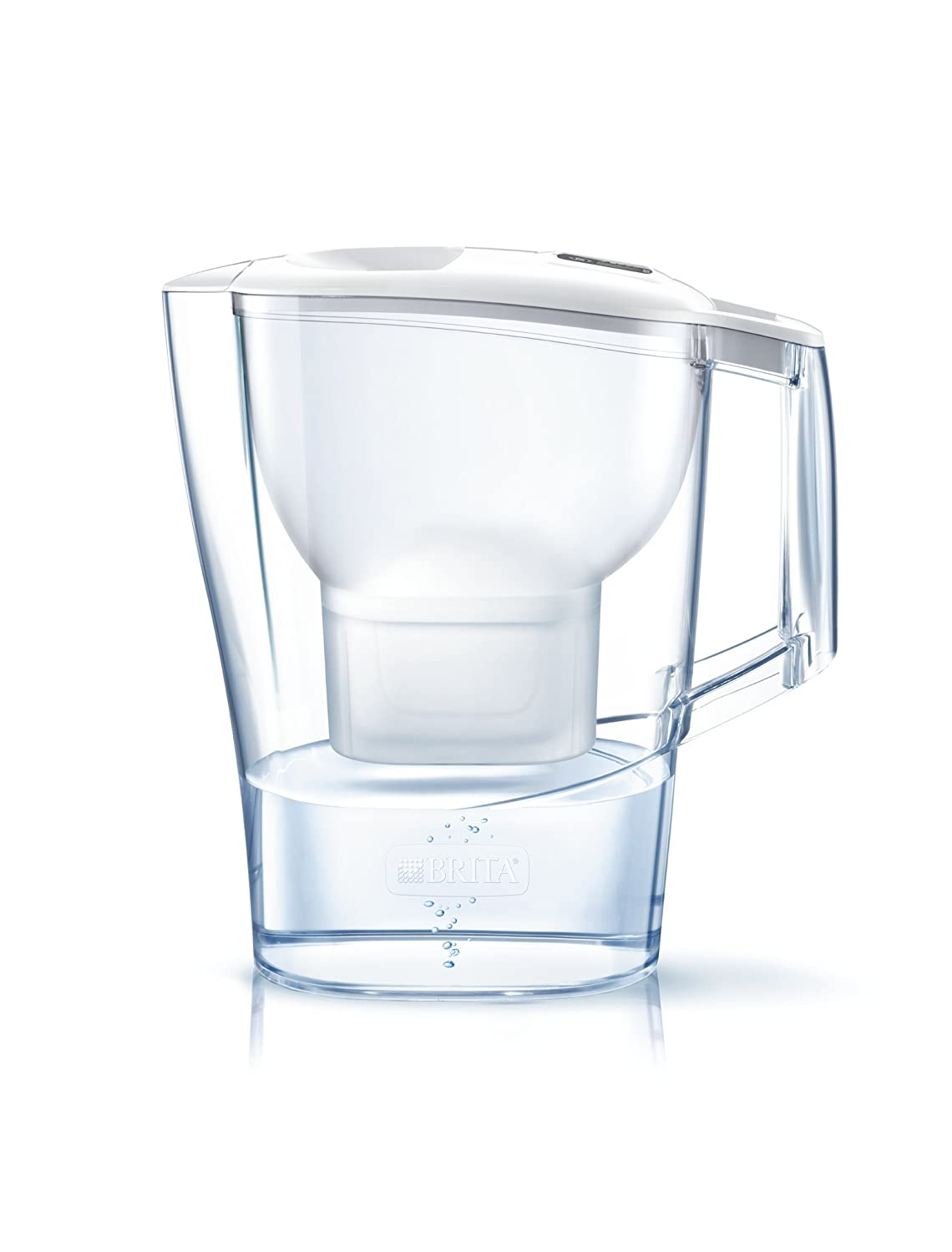 BRITA Aluna Cool White Water Filter Jug with Maxtra +, White 1023719