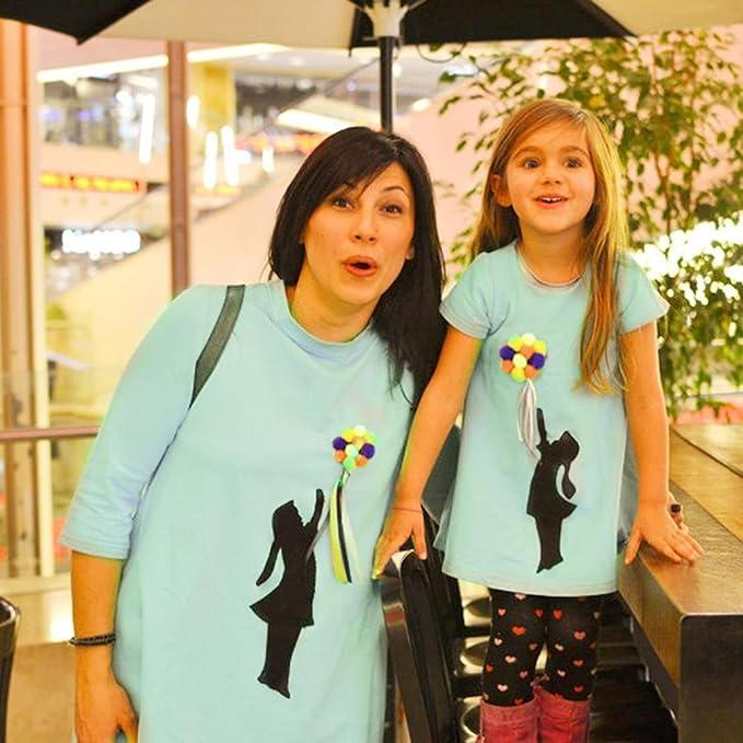 Yannerr Navidad Ropa para Toda la Familia, bebé niño Chica Mujeres Hombre Madre Hija Manga