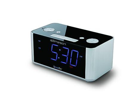 amazon com emerson smartset alarm clock radio usb port for iphone rh amazon com Emerson Dual Alarm Clock Radio Emerson SmartSet Clock Radio CKS9031