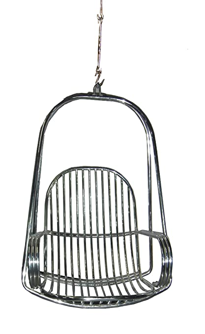 kaushalendra Stainless Steel Garden Zula Hammock Swing Chair with Cushion and Accessory