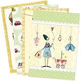 4er Set Glückwunschkarten zur Geburt von Silke Leffler Motiv Kindersachen