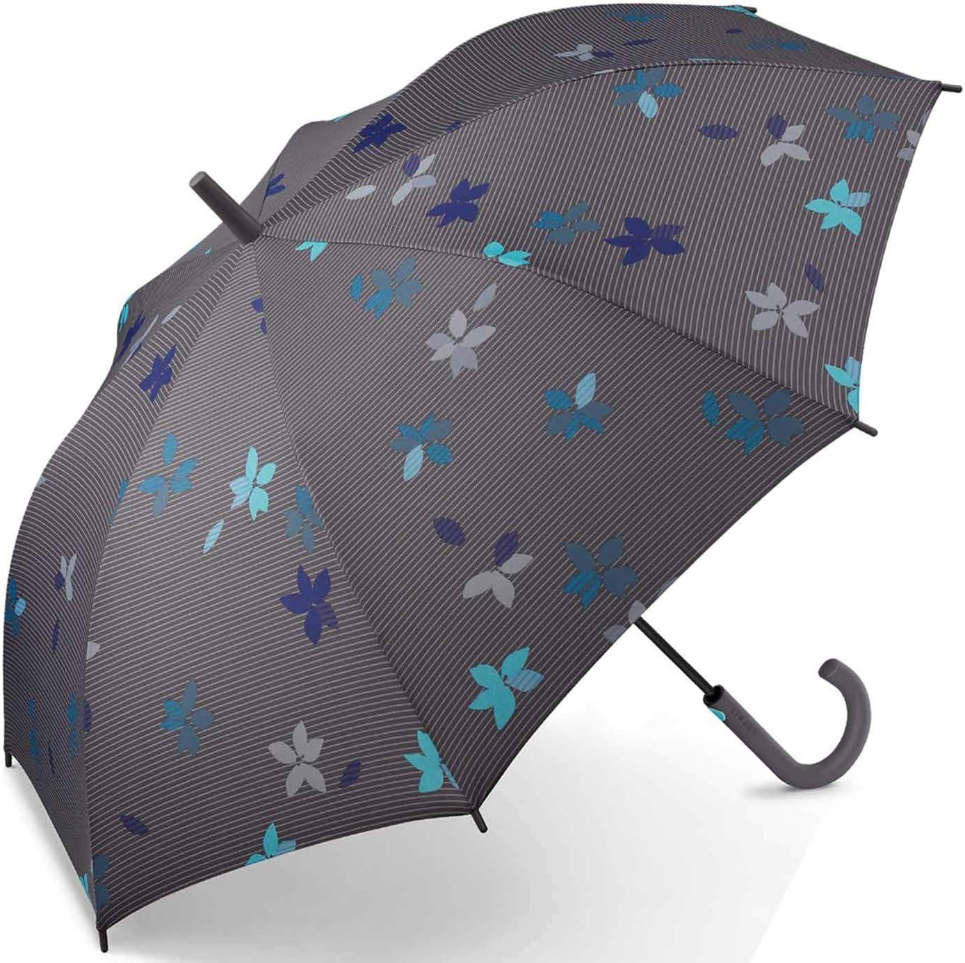 Esprit Long AC Flower Rain - Paraguas Multicolor gris 105 cm
