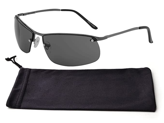 53fb2f8ff7 Best Black Thin Wire Metal Frame Smoke Rimless Lens UV Protection Sexy  Modern Style Sporty Driving
