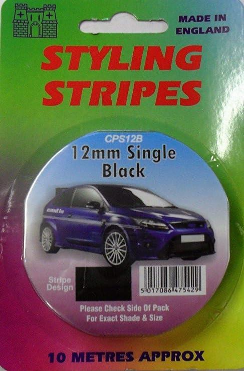Silver Coach Tape Styling Stripe Black White Gold Red Pin Stripe 12mm x 10mtr Self Adhesive Car Pin Stripe Black