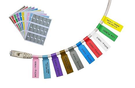 Mr-Label® Autoadhesivo Etiqueta del cable - a prueba de agua ...