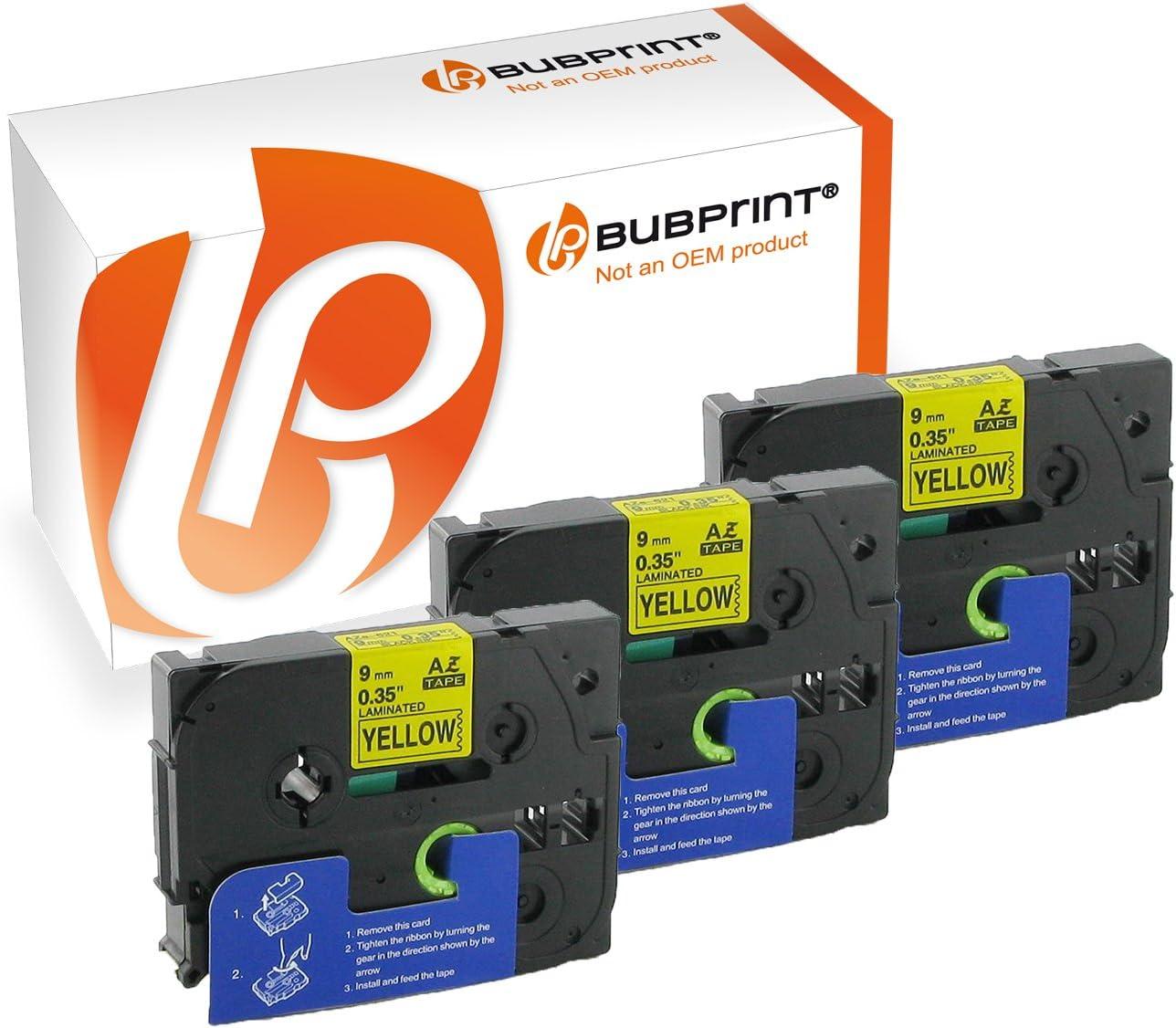 Bubprint 2 Rubans pour /étiqueteuse compatibles pour Brother TZe-221 TZe 221 TZ 221 pour P-Touch 1000