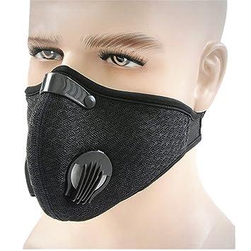 ECHERY polvo Máscara cara mascarilla filtración gas escape anti polen alergia para correr ciclismo actividades al