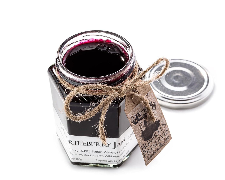 Bumblees | Frasco de mermelada artesanal sabor arándano | Frasco de 320g | Mermelada de Reino Unido | Sin conservadores ni sabores artificiales | Elaborada ...