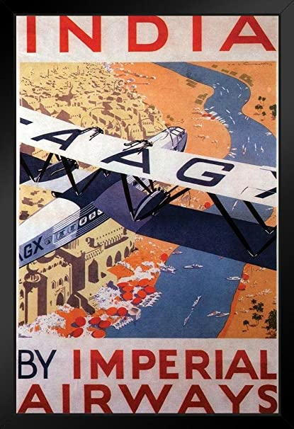 Amazon com: India by Imperial Airways Vintage Travel Art