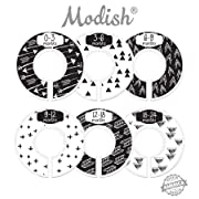 Modish Labels Baby Nursery Closet Dividers, Closet Organizers, Nursery Decor, Gender Neutral, Baby Boy, Baby Girl, Tribal, Arrows, Triangles, Boho Geometric, Nordic, Black, White (Black & White)