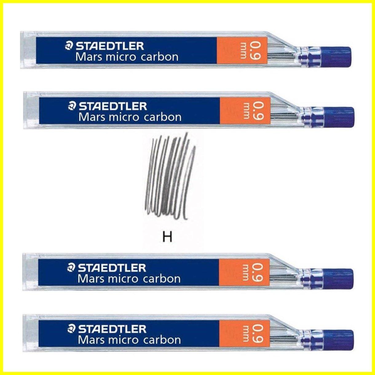STAEDTLER Mars Micro Carbon 250 0.9mm H - Pencil Lead Refills - 4 Tubes/Packs (48 Leads) HB