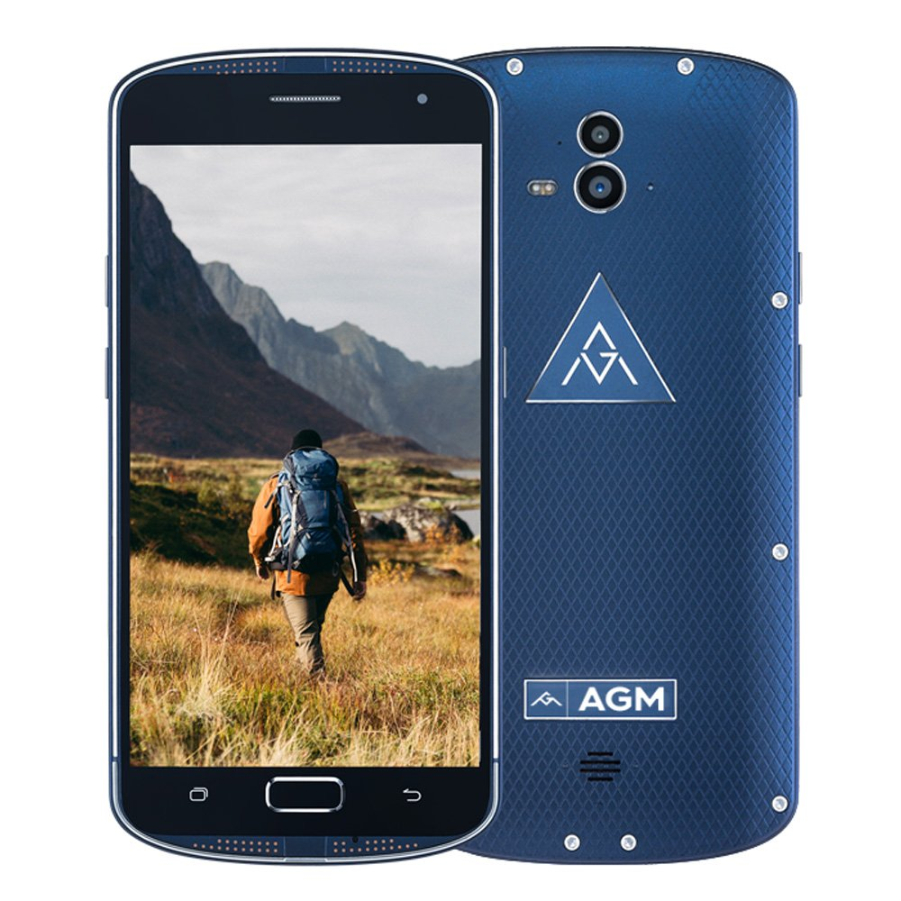 AGM X1 Outdoor Smartphone 4G LTE 5.5 inch FHD AMOLED 1080P Android 5.1 Qualcomm Snapdragon Octa Core 4GB RAM+64GB ROM 13.0MP+5.0MP Dualkamera 5400mAh IP68 NFC
