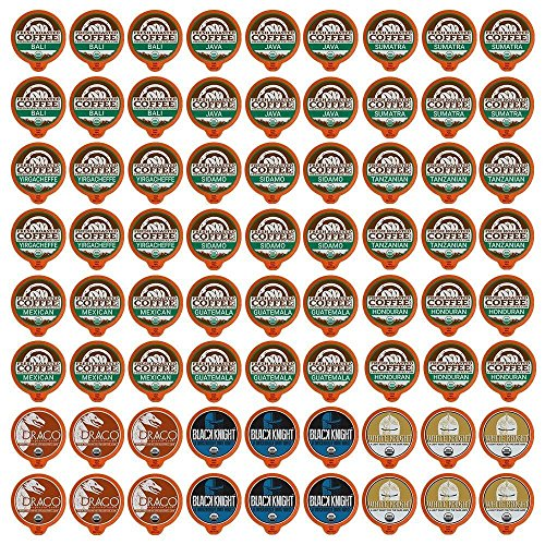 Fresh Roasted Coffee LLC, Organic Sampler Coffee Pod Variety Pack, USDA Organic, Compatible with 1.0 / 2.0 Single-Serve Brewers, 12 Varieties, 72 Count (Fresh Roasted Coffee Llc Organic)